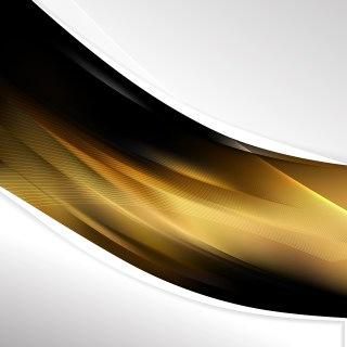 Black and Gold Wave Business Background Vector Art