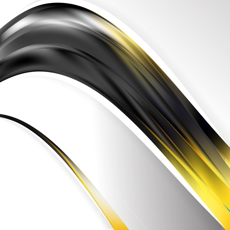 Black and Gold Wave Business Background Image
