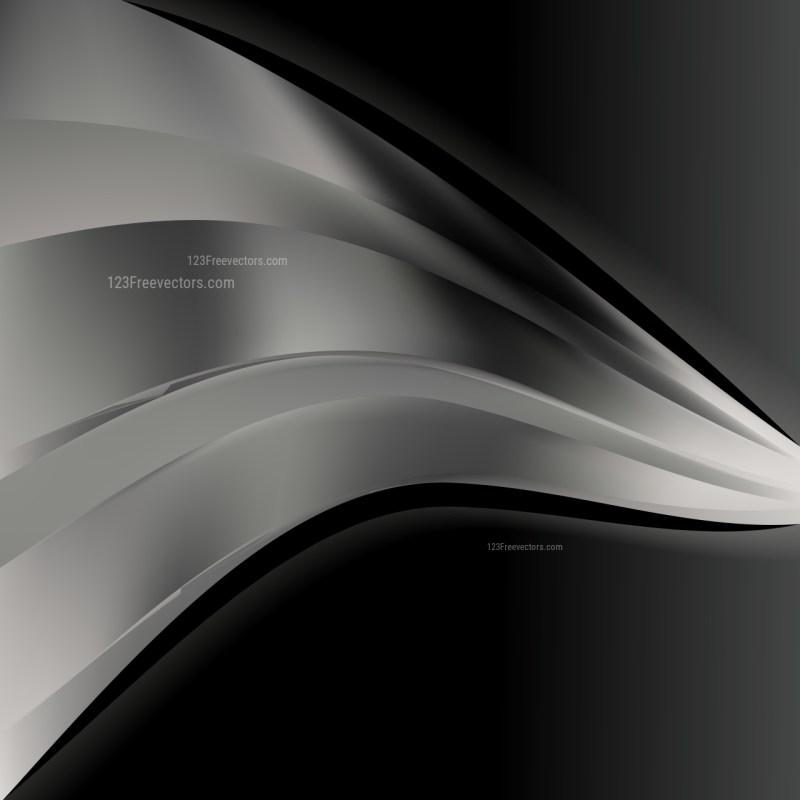 Black and Grey Wave Business Background Vector Illustration