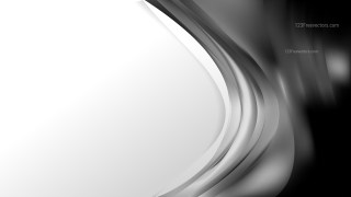Abstract Black and Grey Wave Business Background Design Template