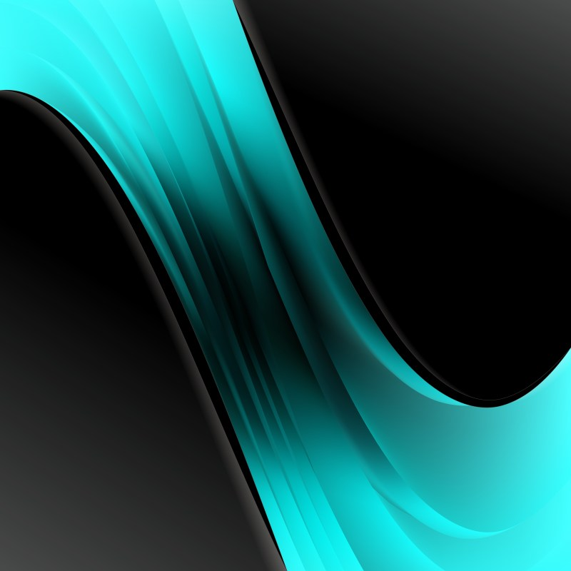 Black and Turquoise Business Brochure