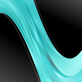 Black and Turquoise Wave Business Background Vector Art
