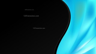 Abstract Black and Turquoise Wave Business Background Vector Image