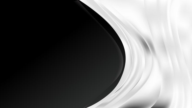 Abstract Black and White Wave Business Background Illustration