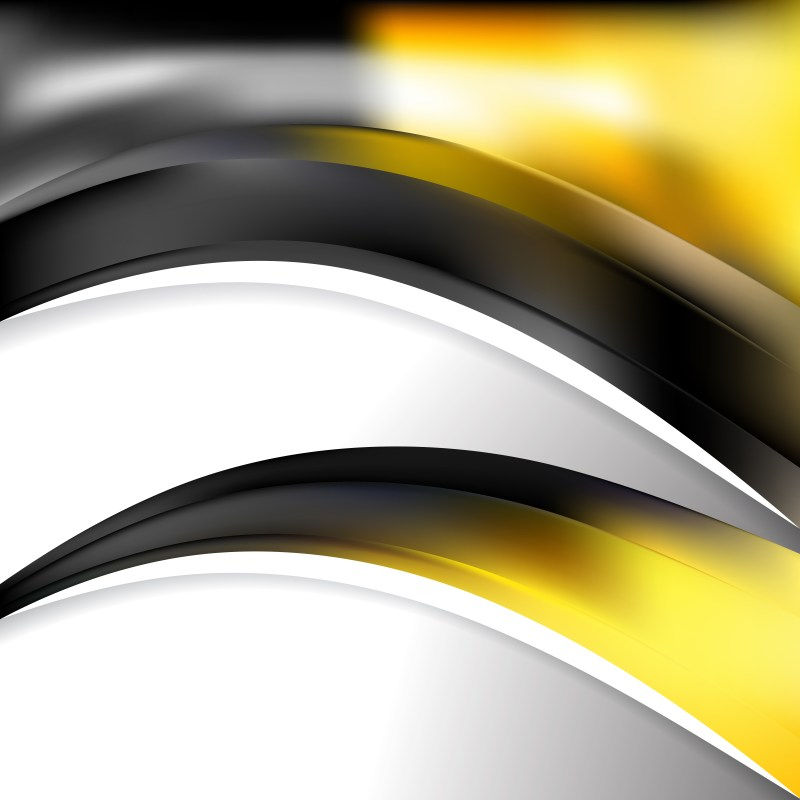Abstract Black and Yellow Wave Business Background Vector Image