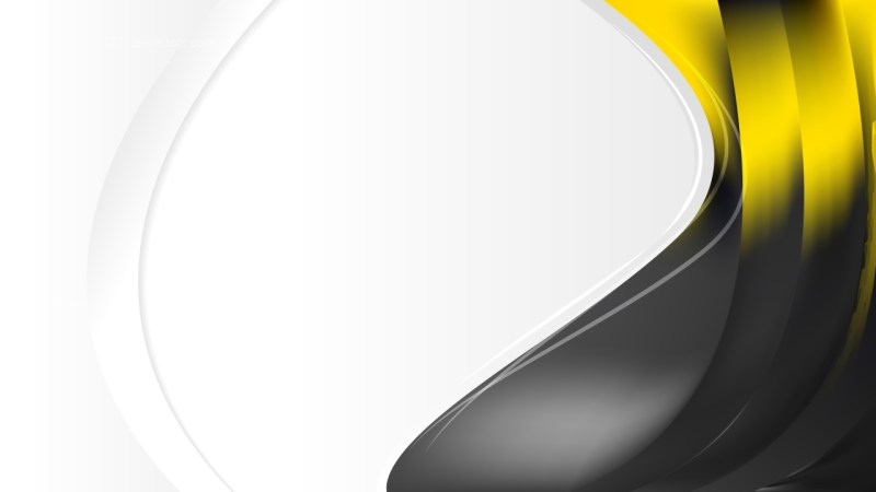 Black and Yellow Wave Business Background