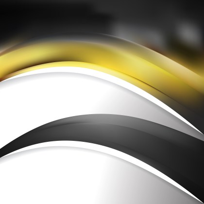Abstract Black and Yellow Wave Business Background