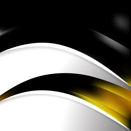 Abstract Black and Yellow Wave Business Background Design Template