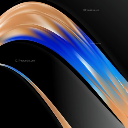 Black Blue and Brown Wave Business Background