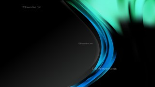 Black Blue and Green Wave Business Background