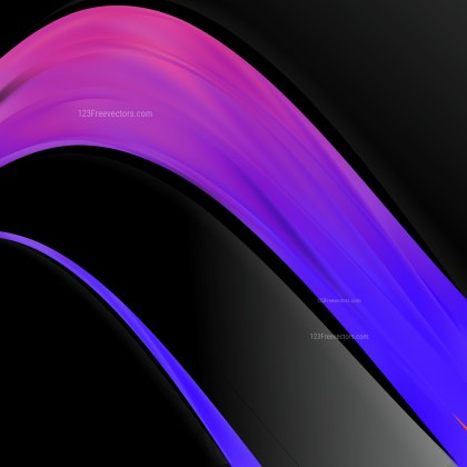 Black Blue and Purple Wave Business Background
