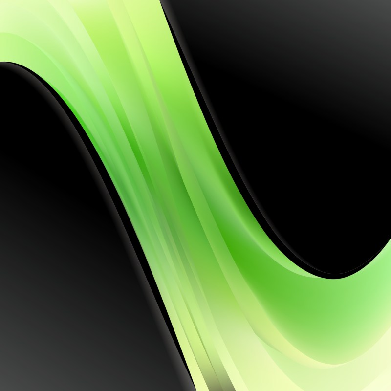 Abstract Black Green and Yellow Wave Business Background Vector Image