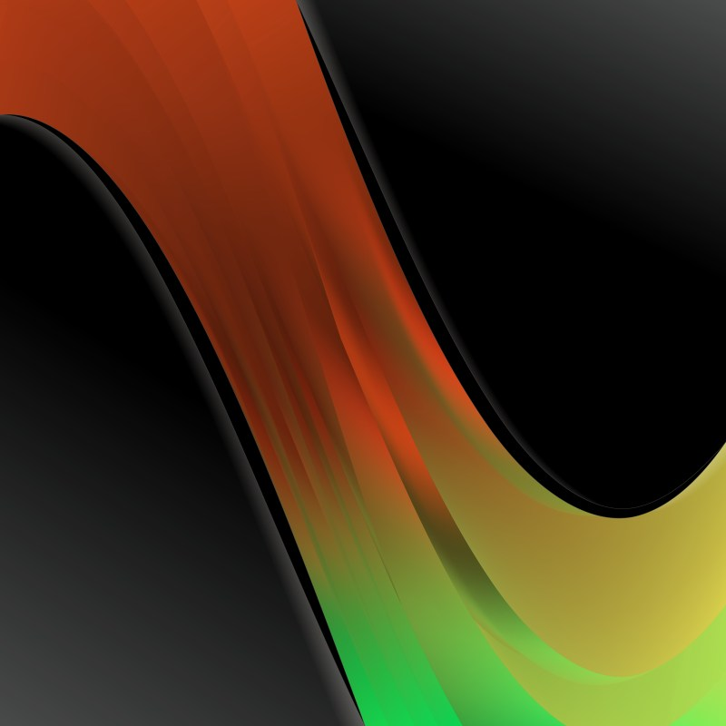 Black Red and Green Wave Business Background