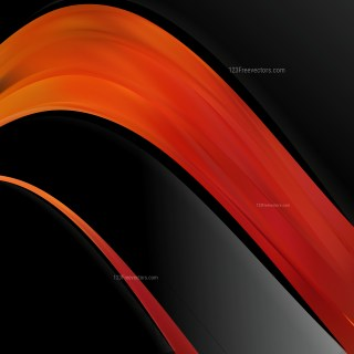 Abstract Black Red and Orange Wave Business Background Design Template