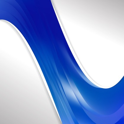 Abstract Blue Wave Business Background Illustration