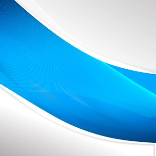 Abstract Blue Wave Business Background Design Template