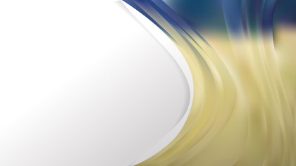 Blue and Gold Wave Business Background