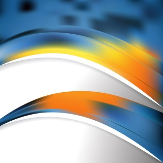 Abstract Blue and Orange Wave Business Background