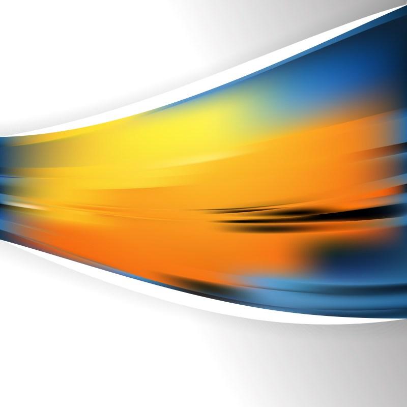 Blue and Orange Business Brochure