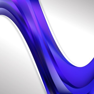 Abstract Blue and Purple Wave Business Background Illustration
