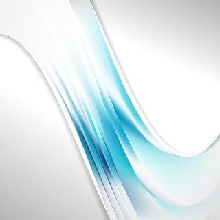 Abstract Blue and White Wave Business Background Illustration