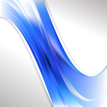 Abstract Blue and White Wave Business Background