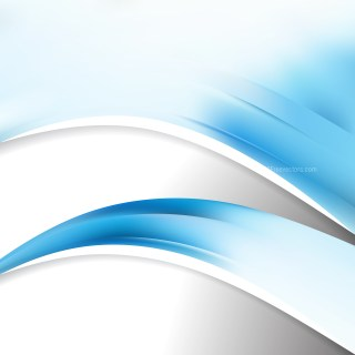 Blue and White Wave Business Background Image