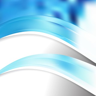 Blue and White Wave Business Background Vector Art