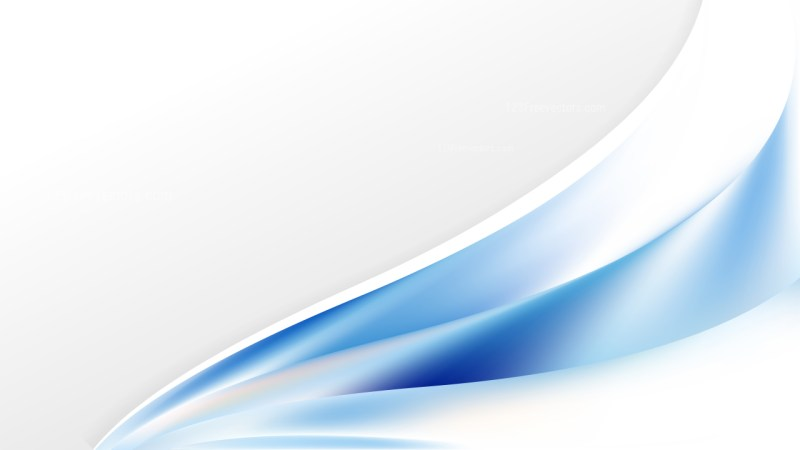 Blue and White Wave Business Background