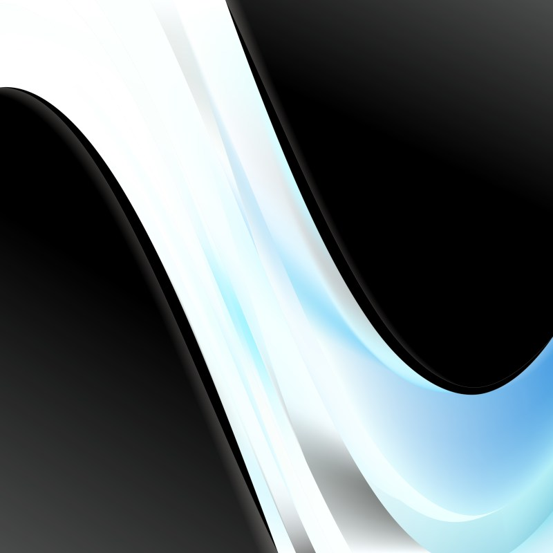 Abstract Blue Black and White Wave Business Background