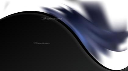 Blue Black and White Wave Business Background Vector Illustration