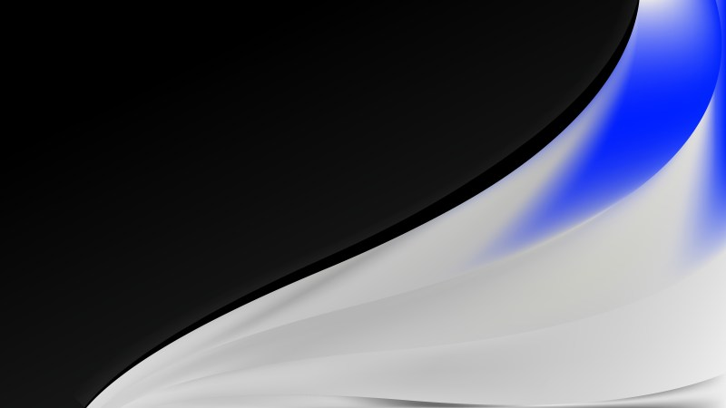 Blue Black and White Wave Business Background Image
