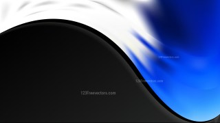 Blue Black and White Background Template