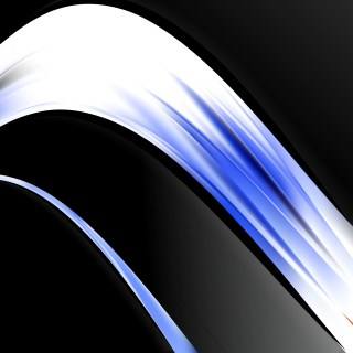 Abstract Blue Black and White Wave Business Background Illustration