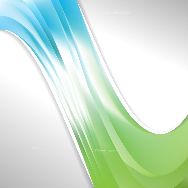 Abstract Blue Green and White Wave Business Background