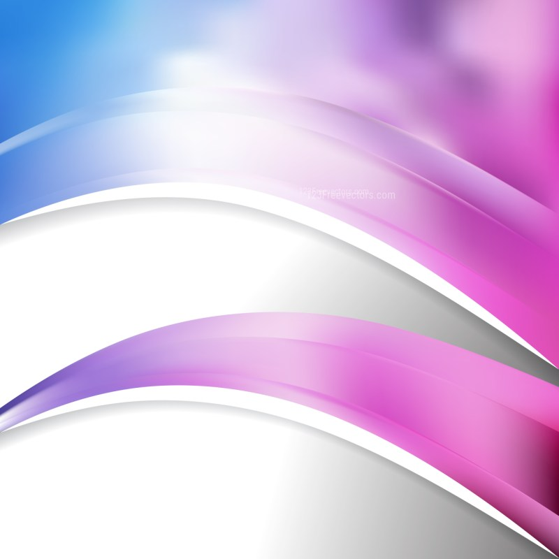Abstract Blue Purple and White Wave Business Background