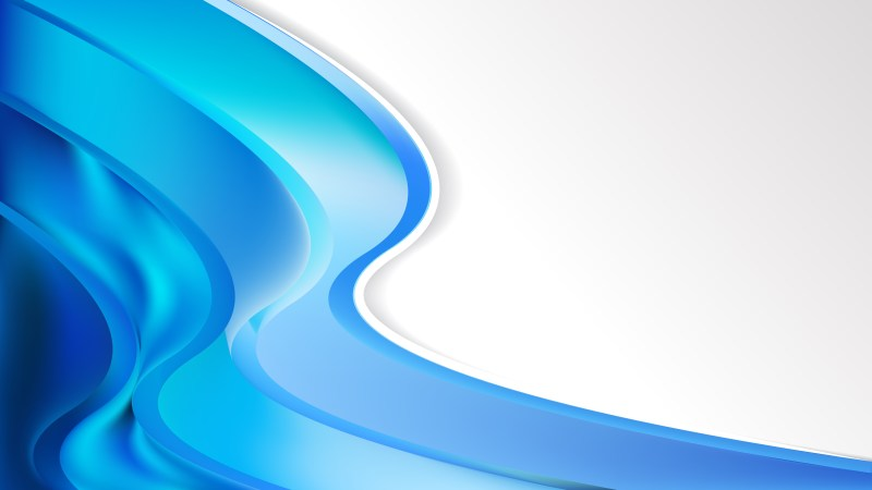 Abstract Bright Blue Wave Business Background