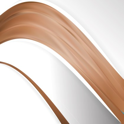 Abstract Brown Wave Business Background Design Template