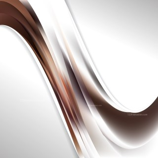 Abstract Brown and White Wave Business Background Illustration