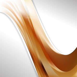 Brown and White Wave Business Background Vector Illustration