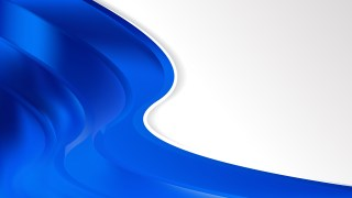 Abstract Cobalt Blue Wave Business Background Design Template