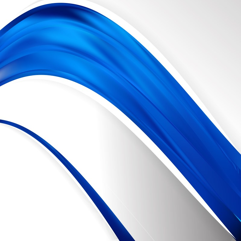 Abstract Cobalt Blue Wave Business Background Illustration