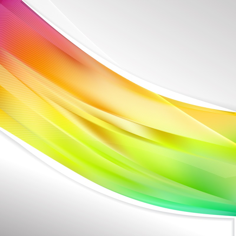 Colorful Wave Business Background Vector Art
