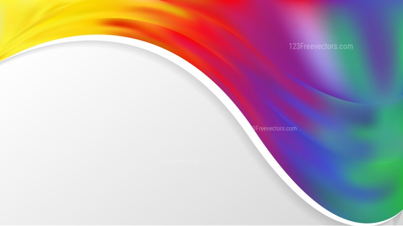 Abstract Colorful Wave Business Background Illustration