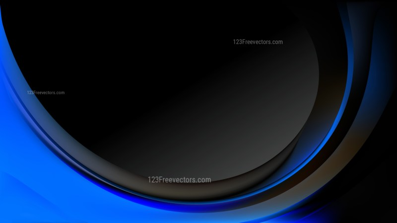 Abstract Cool Blue Wave Business Background