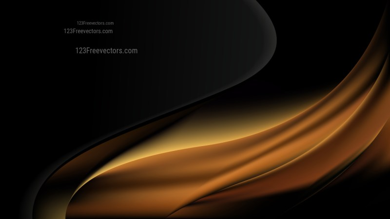Abstract Cool Brown Wave Business Background Design Template