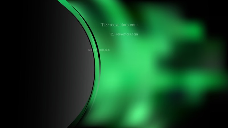 Cool Green Wave Business Background Vector Illustration