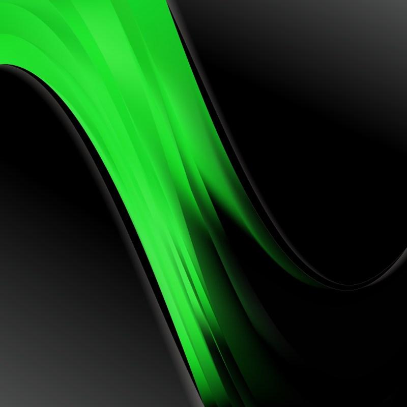 Cool Green Wave Business Background Vector Illustration