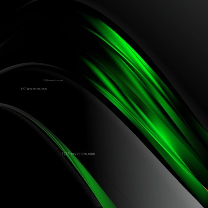 Abstract Cool Green Wave Business Background Illustration