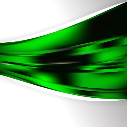 Abstract Cool Green Wave Business Background